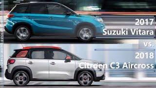 2017 Suzuki Vitara vs 2018 Citroen C3 Aircross (technical comparison)