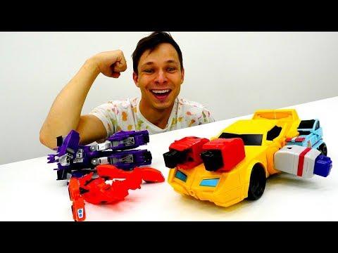 Игры #Трансформеры 💪 Федор прокачал #БАМБЛБИ к Битве c Десептиконами! Видео игрушки для мальчиков