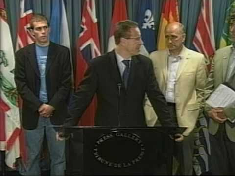 1/2 Global Day for Darfur Press Conference, Ottawa, Canada, 17 September 2007