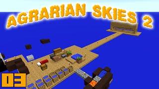 Minecraft Mods Agrarian Skies 2 - MOB FARM !!! [E03] (Modded Skyblock)