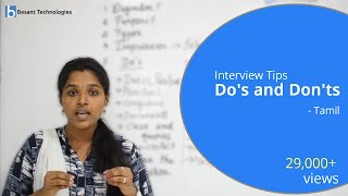 Interview Tips for Freshers in Tamil Part 2