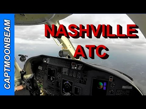 Cessna Citation Landing Nashville Live ATC