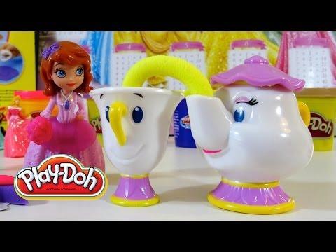 Play Doh Hora del Te con Princesas Disney