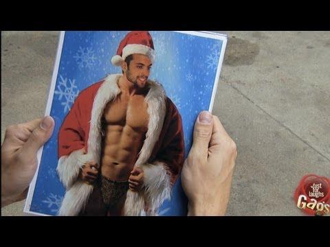 Sexy Santa Surprise Prank