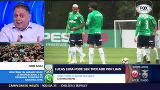 LUCAS LIMA FORA? Palmeiras pode trocar o meia por Luan do Grêmio