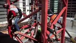 215 W Lake Apartments-high rise crane assembly