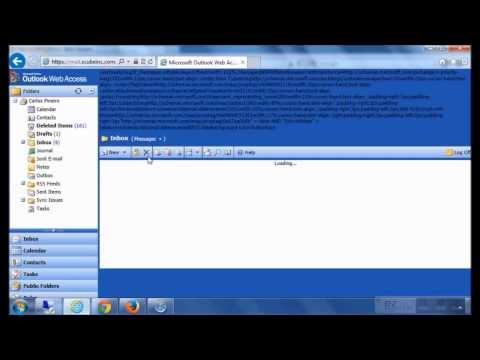 How To Repair OWA(Outlook Web Access) 2003 error on IE 10