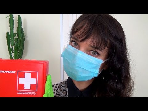 ASMR Treating Your Wounds Role Play in Polish + Doctor First Aid