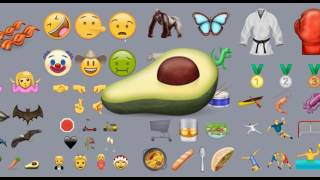 Drooling face and avocado join the emoji club