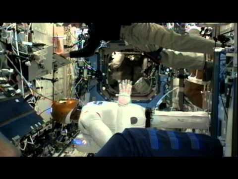 Robonaut Shakes Hands