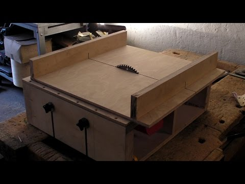 Homemade Table Saw - Part 2 - DIY Sledge. Runners & Mitre Slots