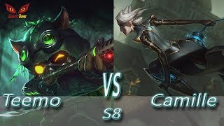 League of Legends - Omega Teemo vs Camille - S8 Ranked Gameplay (Season 8)