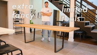 How To Build a HIGH QUALITY Dining Table with LIMITED TOOLS // #DIY //  #Woodworking
