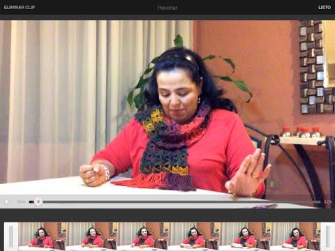 Bufanda caracoles - Punto peruano - ideas fáciles y rápidas con Laura Cepeda