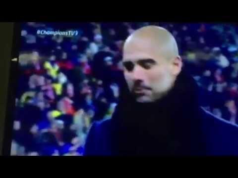 Guardiola se lamenta de la expulsión de Xabi Alonso