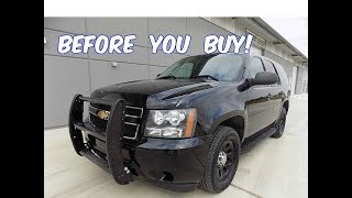 Watch This BEFORE You Buy a Chevy Tahoe Police Pursuit Vehicle! (PPV)