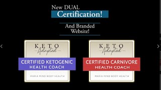 Keto AND Carnivore Health Coach Certification Program!