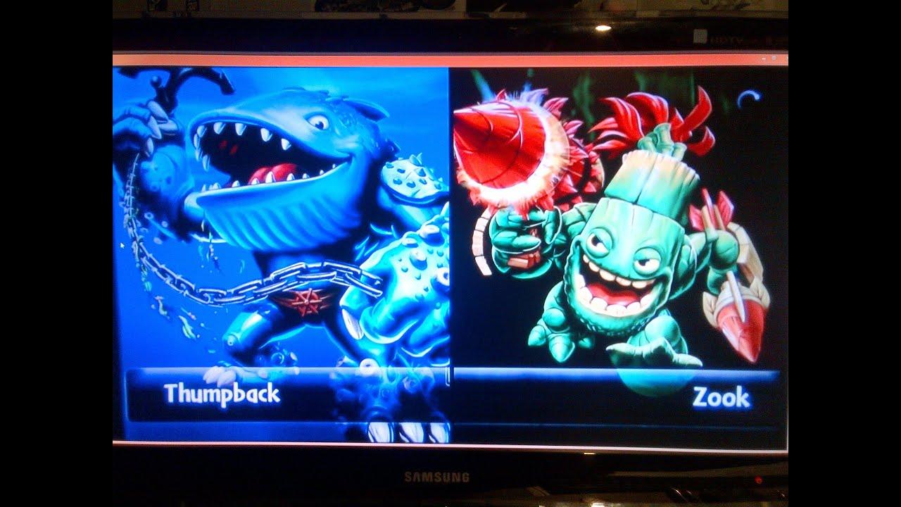 Skylanders giants thumpback vs zook youtube - Skylanders thumpback ...