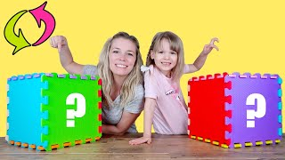 Giant Rainbow Cube Switch Up Challenge! with BLUME DOLLS, L.O.L. Surprise & Ryan's World!