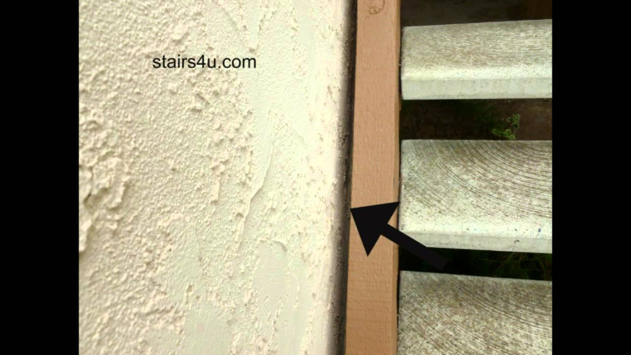 Leave Space Between Exterior Stucco Wall And Wood Stair Stringers Youtube