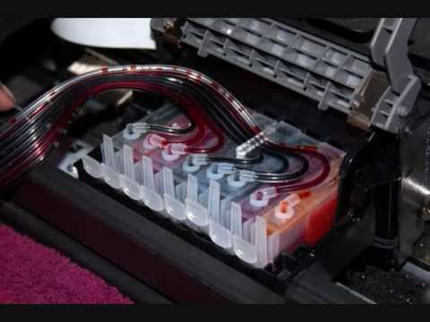 Continuous ink System CISS for  Canon Pro9000 / MK II installation