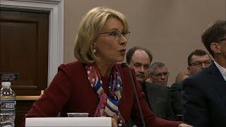 DeVos Faces Tense Exchange over Education Budget