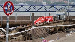 Hundreds injured after pier collapses in Spain