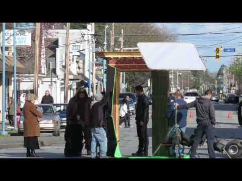 Once Upon A Time scene for episode 522 in Steveston with several cast