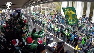 Portland Timbers take the MLS Cup on a parade through downtown Portland