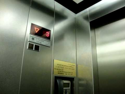 Another ThyssenKrupp MRL traction elevator/lift at Cairo Airport in Egypt