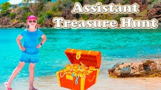 ASSISTANT Magical Key Treasure Hunt Challenge a Surprise Real Life Toy Treasure Hunt Video