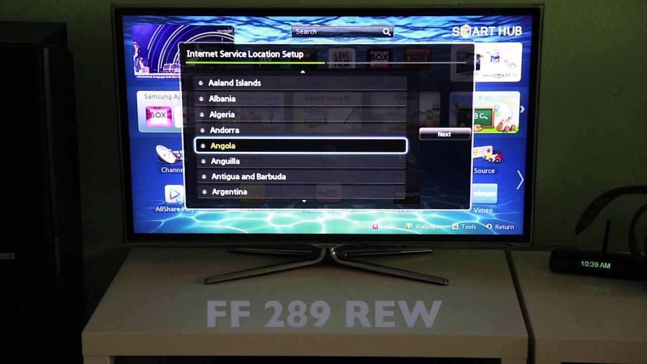 How to Change a Smart Hub Region on a Samsung Smart TV