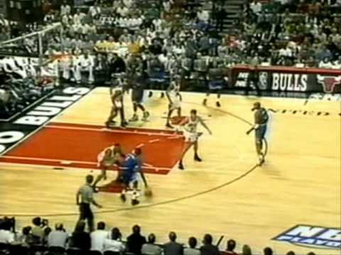 Penny Hardaway has an incredible Eastern Conference Finals Game 1 by scoring 38 points (15/21 FG) on Scottie Pippen with acrobatic layups, dunks and even a h...