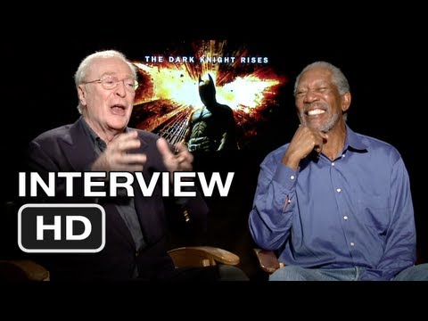 The Dark Knight Rises Interview - Michael Caine, Morgan Freeman (2012) Batman Movie HD