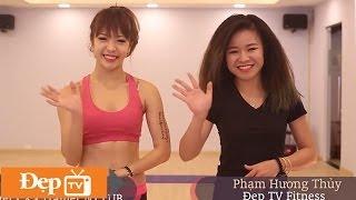 Giảm cân với Hana Giang Anh: Bài tập chân, mông săn chắc