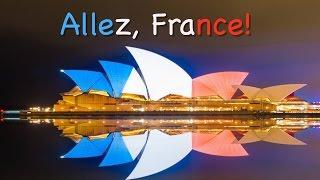 世界はフランスのために点灯します