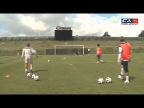 England U21 Shooting Practice | Hollaback Girl Vine