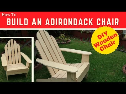 Build Your Own Adirondack Chair- Adirondack Chair Plans - DIY