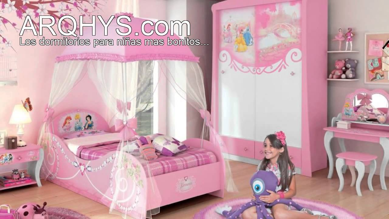 Cuartos infantiles de princesas youtube for Decoracion de cuartos infantiles nina