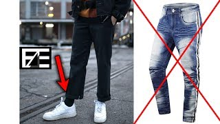 How to PROPERLY STYLE CHEAP PANTS