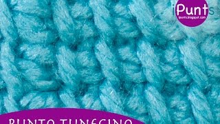 Tutorial Punto tunecino básico (un color) a crochet