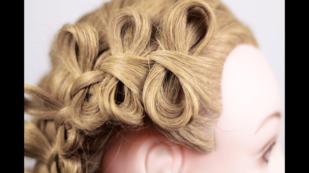 Причёска плетение с бантиками