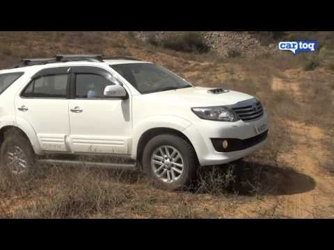 Toyota Fortuner off-roading video review. CarToq.com road test of 2012 Toyota Fortuner SUV India
