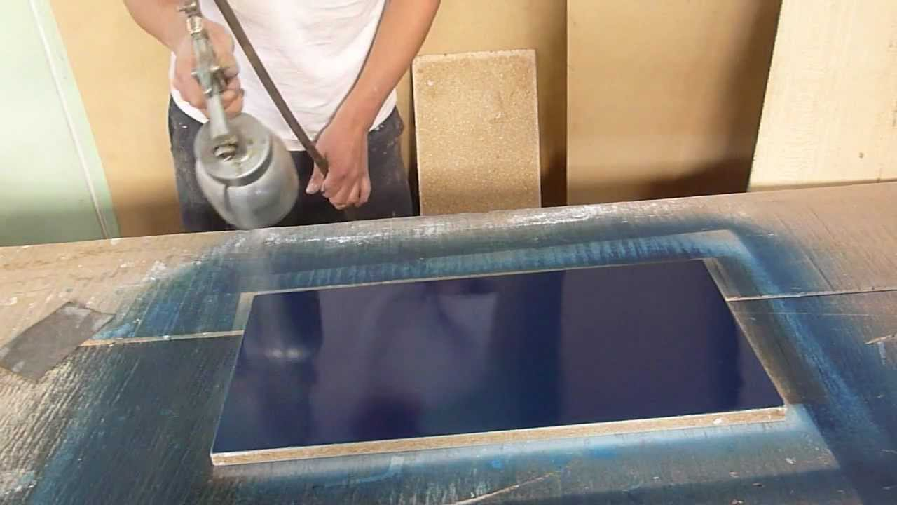 Pintando aglomerado o triplay empaste facil youtube for Como pintar puertas placas nuevas