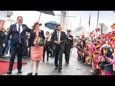 Dronning Margrethe i Flensborg: Travl start på besøget