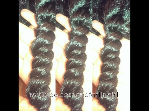 3 Strand Twist Out on Medium Length Natural Hair ft. Blue Magic Conditioners