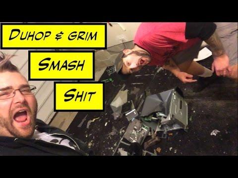 Duhop & Grim SMASH ELECTRONICS WITH BASEBALL BAT & AXE