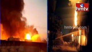 Fire breaks out in Leather Factory in Hyderabad  - hmtv - netivaarthalu.com