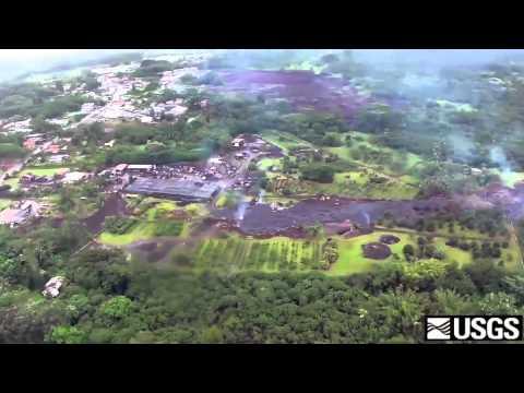 Video del USGS de la Erupción del Kilaulea con la aproximación de la lava a Pahoa