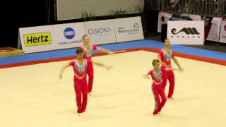 Gymnastics FIG Acro World Cup Maia 2014 MG Combined GBR